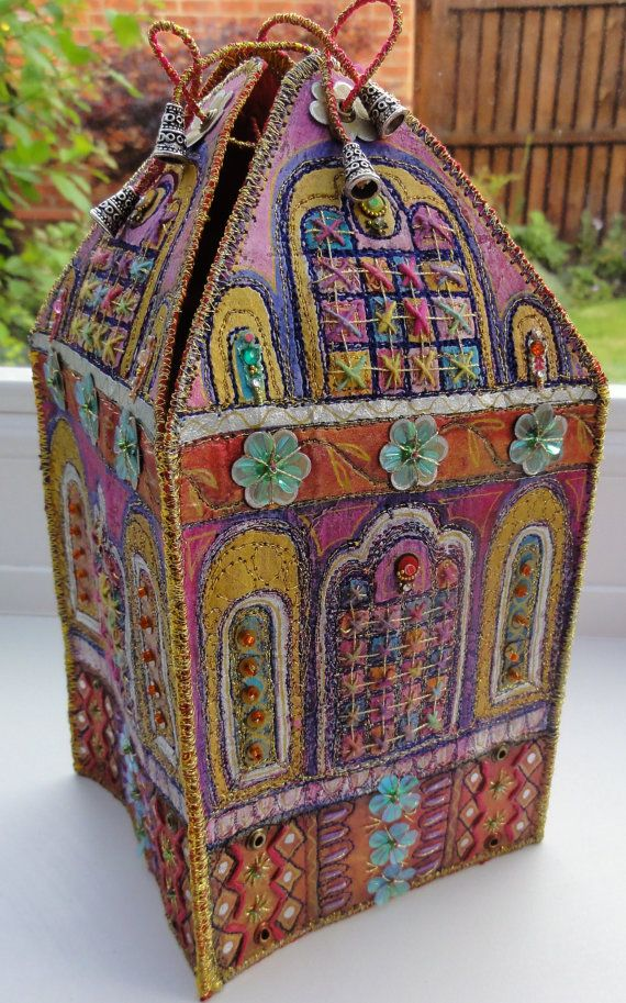 mixed media House Box by Thecraftmagpie 120.00