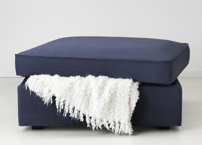 kivik voetenbank ikea dagrommel poef opberger bank hocker grijs woonkamers. Black Bedroom Furniture Sets. Home Design Ideas