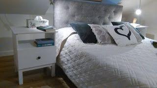 Lifting sypialni - łóżko z zagłówkiem (DIY - jak zrobić pikowany zagłówek mocowany do ramy łóżka)