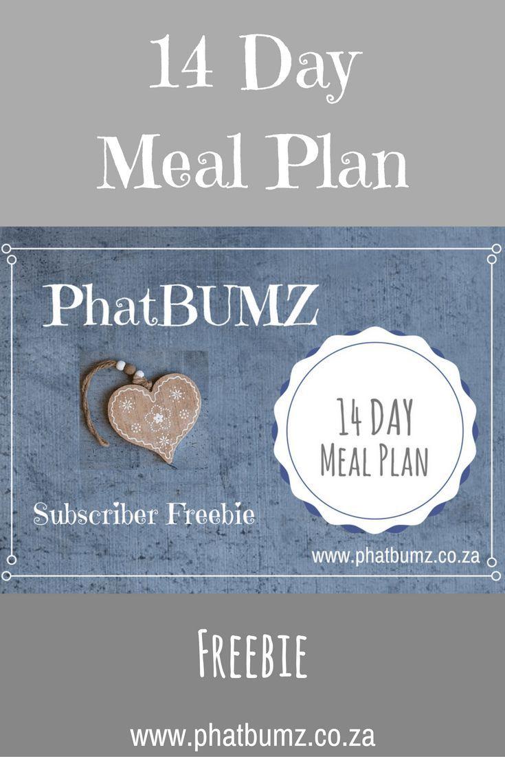 14 Day Meal Plan  PhatBumz