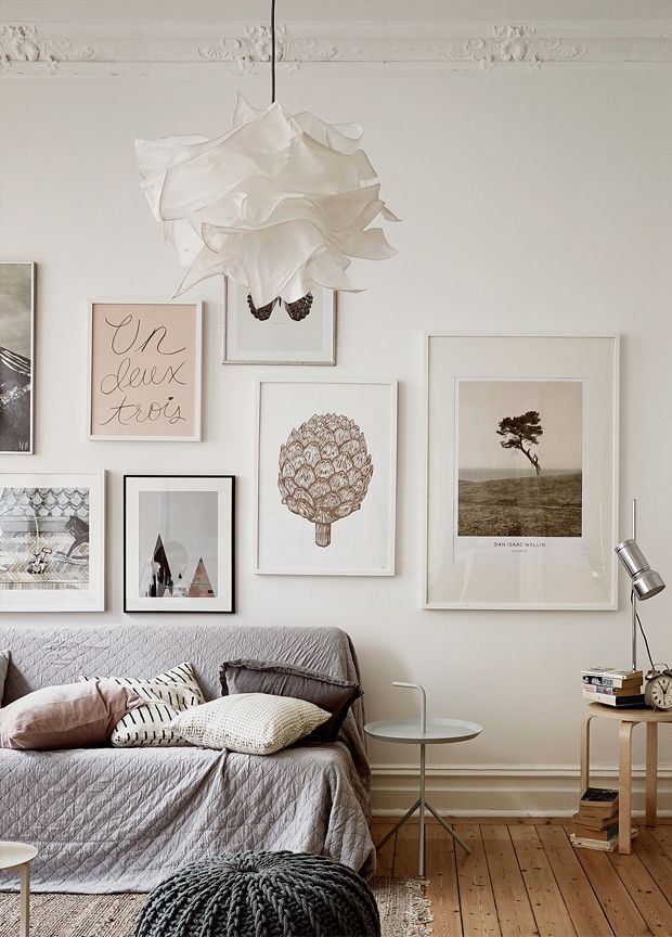 Cover up the cracked plaster till we extend - temp decorating ideas
