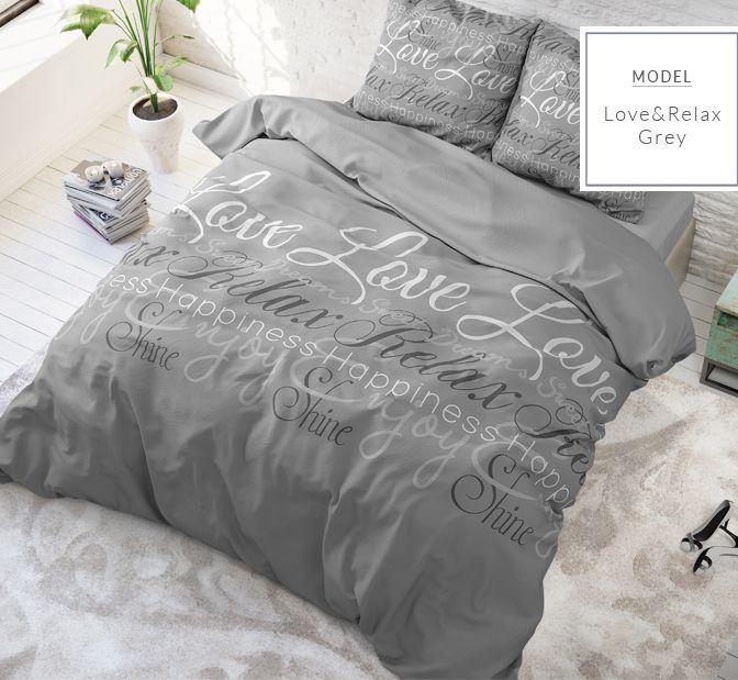 Sivé posteľné obliečky 200x220
