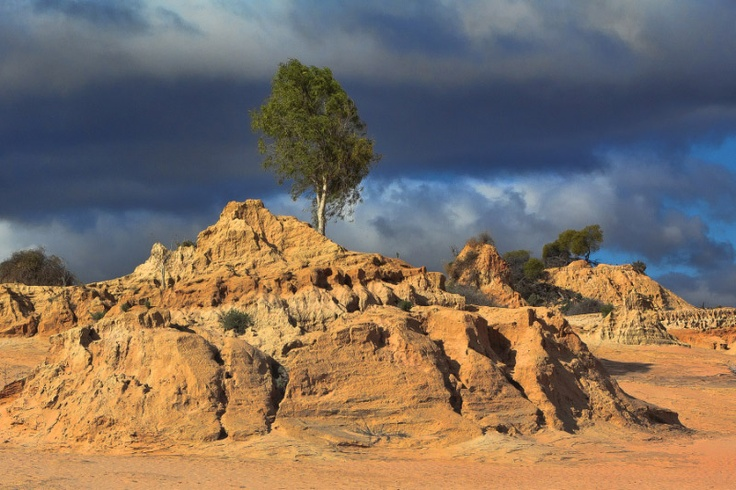 Mungo National Park, near Mildura, Victoria, Australia.  An amazing living museum of Aboriginal history.  Where else can you see 40,000 years of history carved into the landscape!!  Read more at the following http://wp.me/p2viwD-m