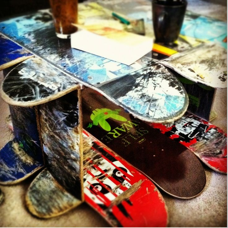 Beautiful Skateboard Table   My House My Home
