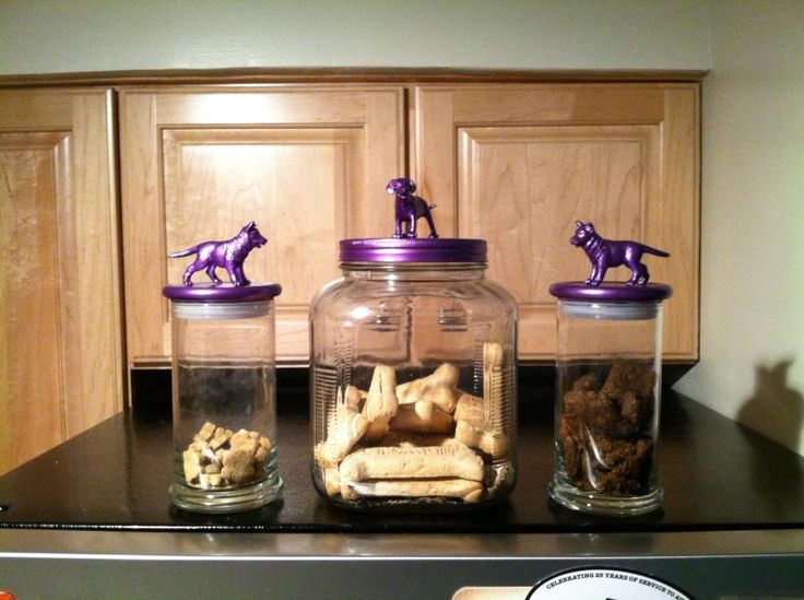 I reused my @Diamond Candles jar for my puppy! She loves her new treat jars! #upcycled #repurposed #diy