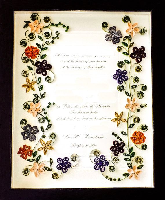 Keepsake Wedding Gifts: Wedding Invitation Keepsake Framed Shadowbox- Birth