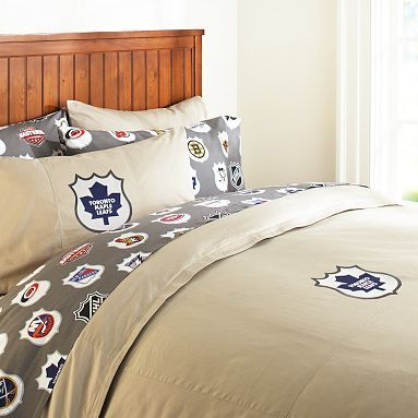Toronto Maple Leafs Duvet Cover & Pillowcase #pbteen