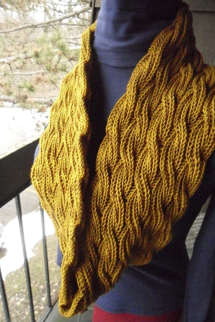 Reversible Cabled Brioche Stitch Scarf By Saralyn Harvey ...