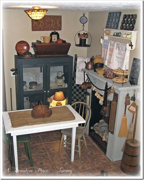 Primitive Farmhouse Breakfast Nook Kitchen. Www