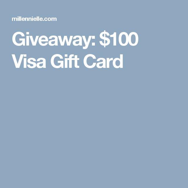Giveaway: $100 Visa Gift Card