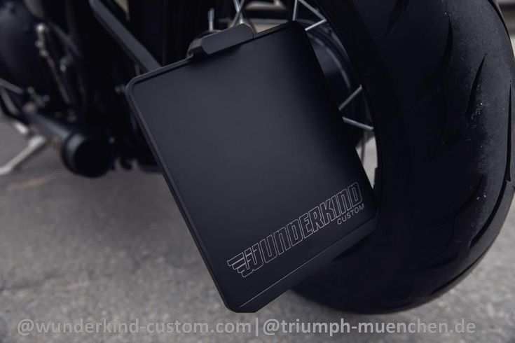 WUNDERKIND-Custom Seitlicher Motorrad-Kennzeichenhalter