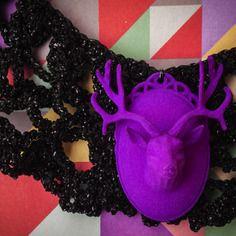 Collana colletto crochet con cammeo in stampa 3d