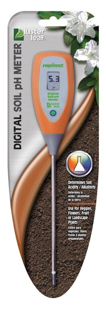 Luster Leaf 1845 Rapitest Digital Soil Garden Plant pH Meter Sensor Test Tester #LusterLeaf