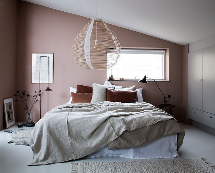 My Scandinavian Home: My bedroom make-over with #Bemz and a warm blend of chestnut, rust and off-white.  Photo Niki Brantmark / Styling Genevieve Jorn.