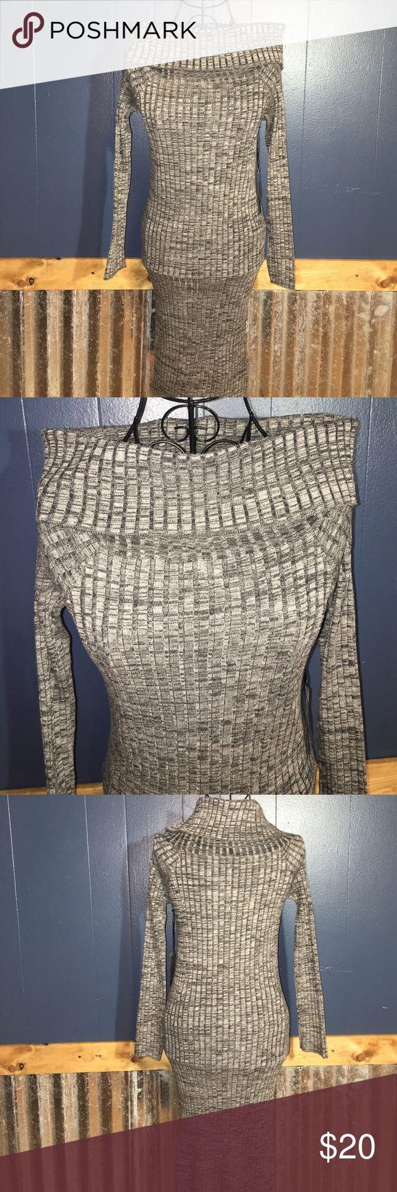 "Long Sleeve Turtleneck Dress NWT. Gray long sleeve turtleneck sweater dress. 35"" from shoulder to bottoms of dress. Poof Apparel Dresses Long Sleeve"