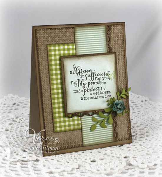 scripture card by Julee Tilman.... by leaving the flower off, it would make it a more masculine card