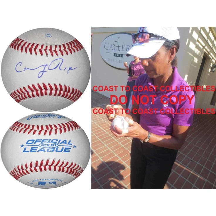 Condoleezza Rice, 66th United States Secretary of State, Signed, Autographed, Baseball, a COA and Proof Photo of Condoleezza Signing the Baseball Will Be Included. star