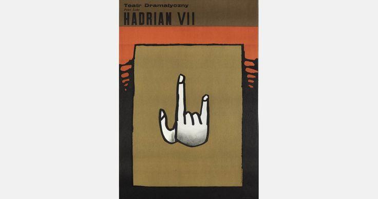 Henryk Tomaszewski, Hadrianus VII, theatre poster, 1969, image courtesy of Filip Pągowski