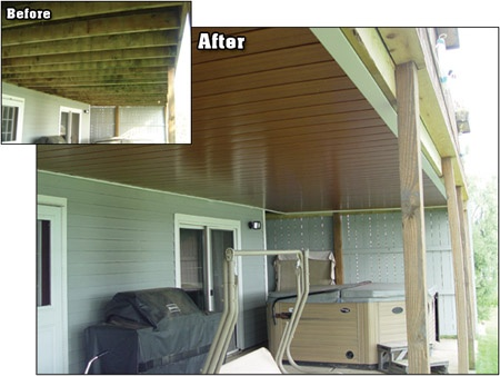 Before And After Of Under Deck Oasis Protection
