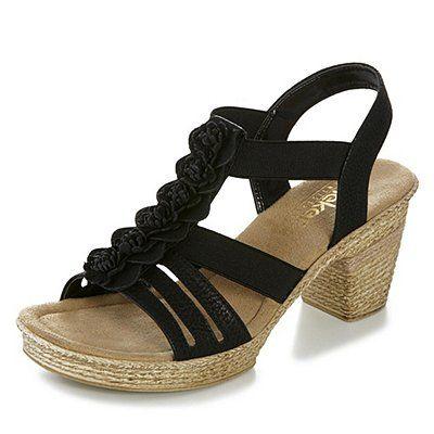 Rieker Sandalette - schwarz | sheego XXL-Mode