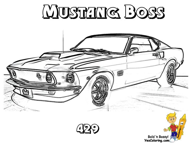 u0026 39 69 mustang boss 429  muscle car you can print out this