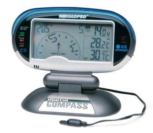 Roadpro Digital Compass, Inside & Outside Temperature, Vo...