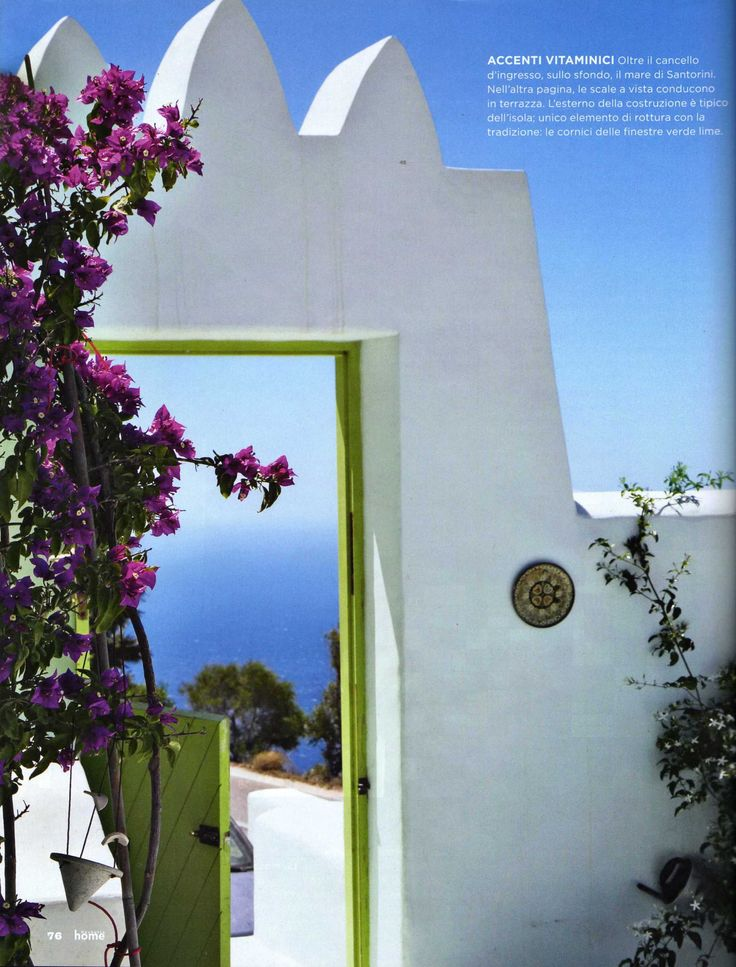 entrance arabian style greece Santorini
