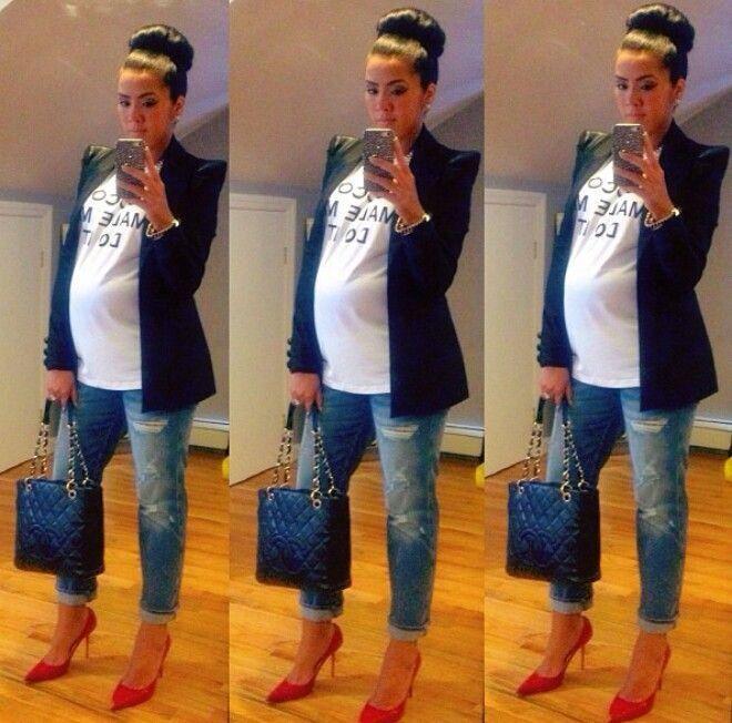 Pregnancy fashion!! Love!!!
