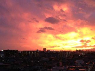2013年 大雨の後の夕焼け。映画のような空!