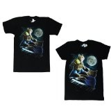 Three Keyboard Cat Moon By Oxen - Guy and Girly Black Shirts! (Apparel)By Threadless