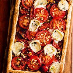 Tomato and goats' cheese tart  - Sainsbury's Magazine