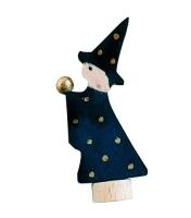 Wooden Candle Holder decoration        -Magician/ Wizard