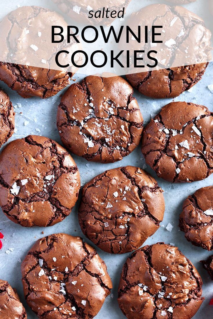 Salted Brownie Cookies Tutti Dolci Recipe Baking Recipes Cookies Easy Cookie Recipes Desserts