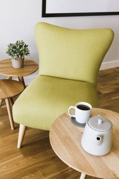 Pared back style with our Finch Armchair and Orion Side Tables at Josefina's home on Made Unboxed