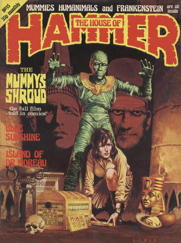 The House of Hammer magazine no. 15 (1977). Cover art by Brian Lewis.