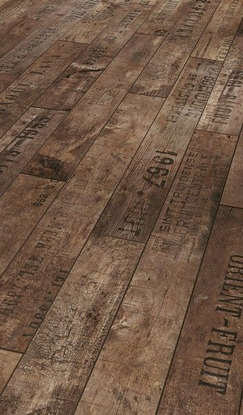 It's not real wine crates, it's laminate flooring. But how cool if you did  make it out of reclaimed wine crates