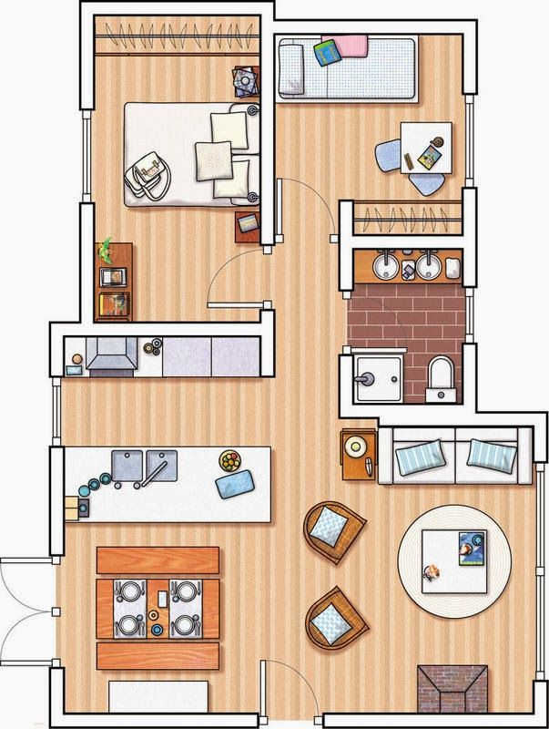 11 best Planta pequena images on Pinterest Small houses, House