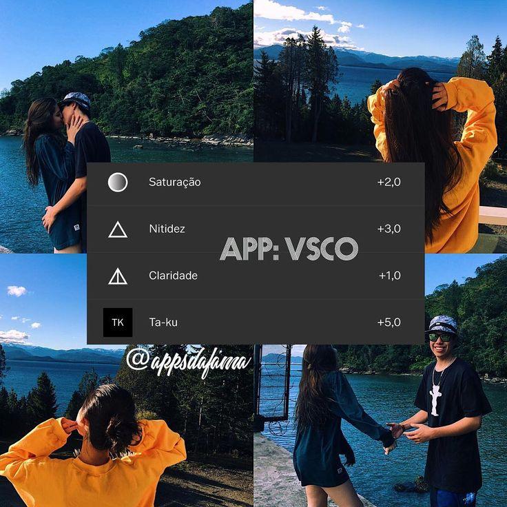"""156 curtidas, 8 comentários - ↜Apps da Fama↝ (@appsdafama) no Instagram: """"Filtro ótimo para tons azuis #filter #vsco #vscocam"""""""