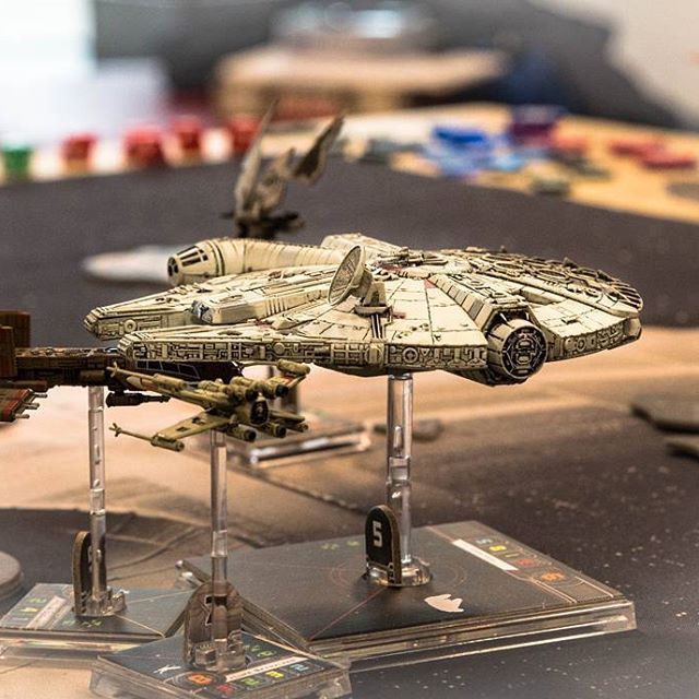 """""""That's no moon, it's a space station."""" #xwing #ffgames #starwars #hansolo #boardgames #brætspil #brädspel #brettspill #lautapelit"""
