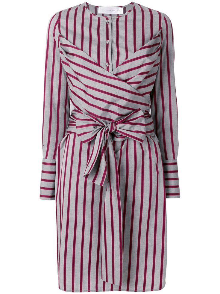 Victoria Victoria Beckham платье-рубашка в полоску