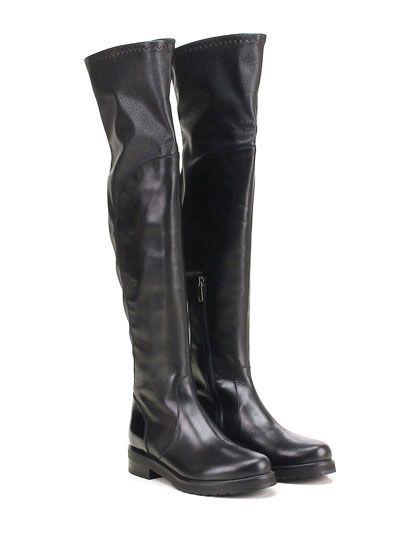 LAURA BELLARIVA - Stivali - Donna - Stivale in pelle martellata ed eco pelle…