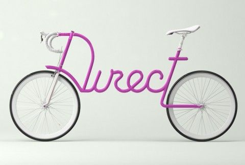 Visual for Transport London Visual by Alex Trochut. Pink bicycle-Direct.