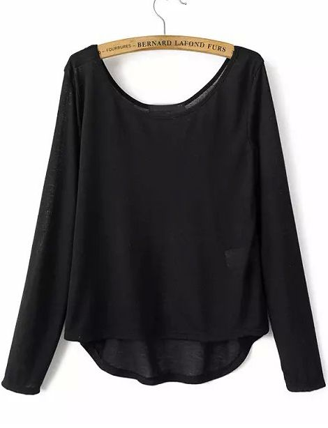 Shop Black Round Neck Long Sleeve Wing Print T-shirt online. Sheinside offers Black Round Neck Long Sleeve Wing Print T-shirt & more to fit your fashionable needs. Free Shipping Worldwide!