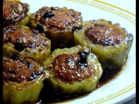 Stuffed Bitter Melon with Pork and shrimps in Black Bean Sauce: Authentic Chinese Cooking. - YouTube