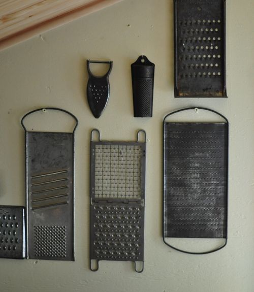 Creative Way to Display a Collection:   The author of Found, Free, and Flea shows off her eclectic mix of vintage finds. BY SARAH WEINBERG. Fill up kitchen walls with a collage of tools, like these well-worn cheese graters.