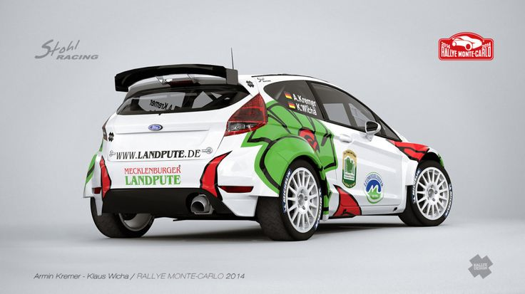 Design and wrap of Ford Fiesta R5 for Rally Monte Carlo.