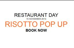 Restaurant Day--- Scotland---One of 55 countries participating.  Edinburgh Risotto Pop up at Union of Genius.