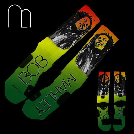 Custom Elites Bob Marley by MemoApparel on Etsy, $35.99