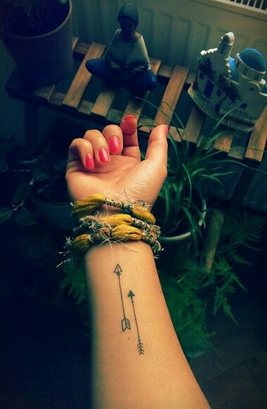 Arrow tattoo on the wrist: my latest tattoo si!