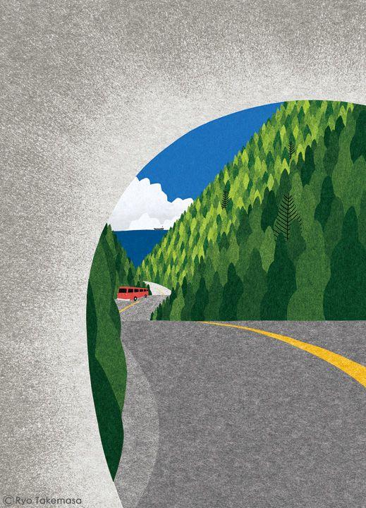 武政 諒 Ryo Takemasa | 三菱UFJリサーチ&コンサルティングが発行する会報誌『SQUET』8月号の表紙イラストレーションを担当しました。 Cover illustration for Squet magazine, August 2014 issue.